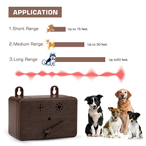 Anti Barking Device,Dog Trainer Tool Dog Bark 50 FT Range Control Device Anti-bark Deterrent,Indoor Outdoor Stop Bark Security for Dogs