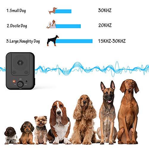 Marialove Anti Barking Control Devices, Outdoor Anti Barking Device, Sonic Bark Deterrents Silencer Stop Barking Bark Stop Repeller