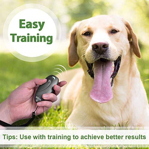 MODUS Anti Barking Device – Ultrasonic Dog Bark Deterrent 2 in 1 Dog Training Aid, 16.4 Ft Control Range w/Anti-Static Wrist Strap LED Indicate, Bark Begone Bark Box Dogs Outdoor Indoor