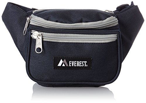 Everest Signature Waist Pack – Standard, Navy/Gray, One Size