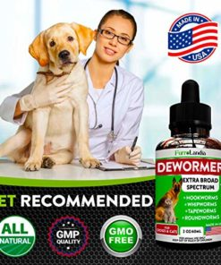 8 in 1 Dewormer for Dogs & Cats – Kills & Prevent Tapeworms – Roundworms – Hookworms – Whipworms – Natural Broad-Spectrum Formula – Senior Pets Puppy, Kitten – Supports Any Breed – Made in USA