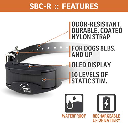 SportDOG Brand NoBark Collars – Waterproof Bark Control with Static- Anti Bark Device