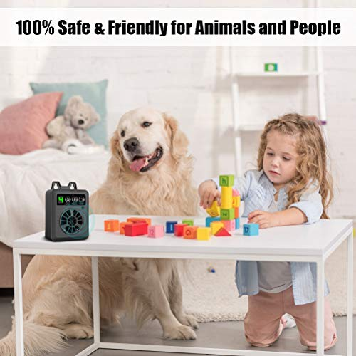 E-WOR Anti Barking Device, Dog Barking Control Devices, 2020 Newest Ultrasonic Dog Bark Deterrent with 3 Adjustable Volume Levels for Outdoor Indoor Up to 50 Feet Range
