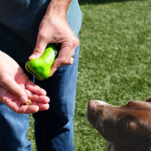Kibble Bubble Dog Treat Pouch, Bone, Green