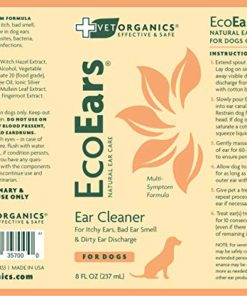 EcoEars | Natural Dog Ear Cleaner – Infection Formula For Itch, Head Shaking, Discharge & Smell. Multi-Symptom Ear Treatment Cleans Away Most Dog Ear Problems.No Chemicals or Drugs-100% Guaranteed