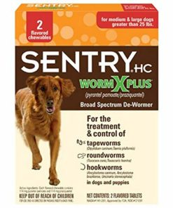 SENTRY HC 7 Way De-Wormer for Medium & Large Dogs, 2 count