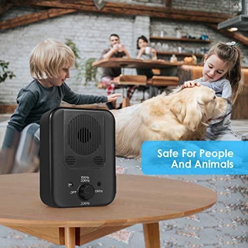 Bark Control Device, 2020Upgraded Mini Bark Control Device, Outdoor Anti Barking Ultrasonic Dog Bark Control with 3 Ultrasonic Frequency Levels, Sonic Bark Deterrents Silencer Stop Barking Anti Bark