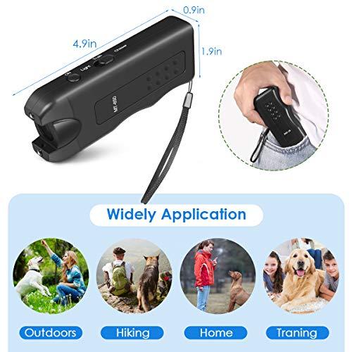 Mimill Handheld Dog Repellent, Ultrasonic Infrared Dog Deterrent, Bark Stopper + Dog Training