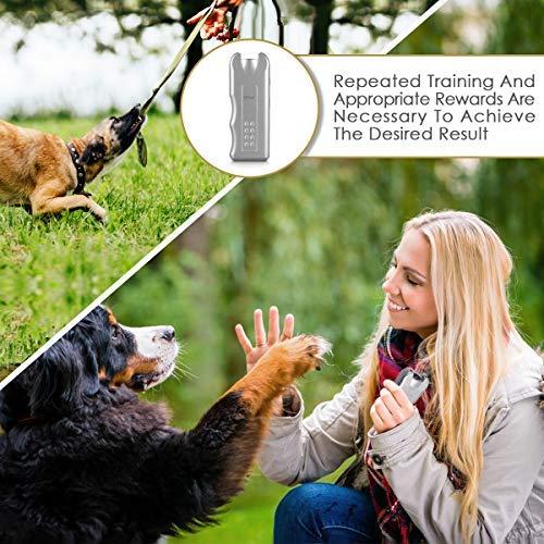 Geohee Handheld Dog Repellent, Ultrasonic Infrared Dog Deterrent, Bark Stopper + Good Behavior Dog Training