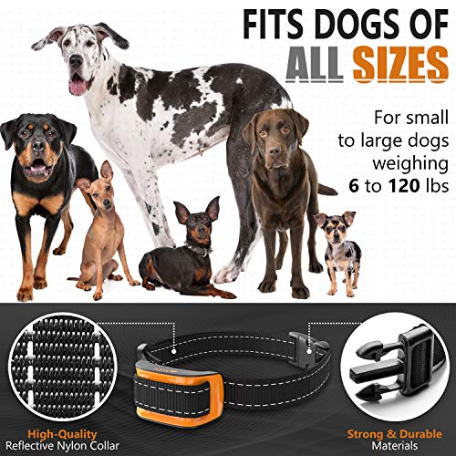 NPS No Shock Bark Collar for Small to Large Dogs – Smart Chip Adjusts to Stop Barking in 1 Minute – Highly Effective Vibration and Sound Stops Barks Fast with No Pain – Safe, Anti-Bark Device