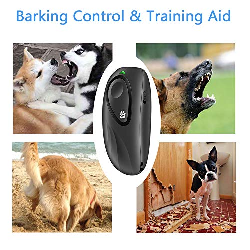 BIG DEAL Anti Barking Device, Hand-held Sonic Bark Deterrents with Wrist Strap, Dog Repellent Device with Adjustable Level, 16.4FT Range Control Ultrasonic Bark Control Devices