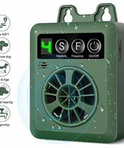 Nest 9 Anti Barking Control Device, Upgrade Outdoor Anti Barking Device, Sonic Bark Deterrents Silencer Stop Barking Bark Stop Repeller (Green)