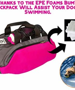 Bum's Pack Dog Backpacks, Luminous & Reflective Hiking Pack for Dogs, Water Bottle Included Camping & Travel Saddlebag for Dogs, Dog Float Coat, Dog Life Jacket, Dog Backpacks for Medium & Large Dogs