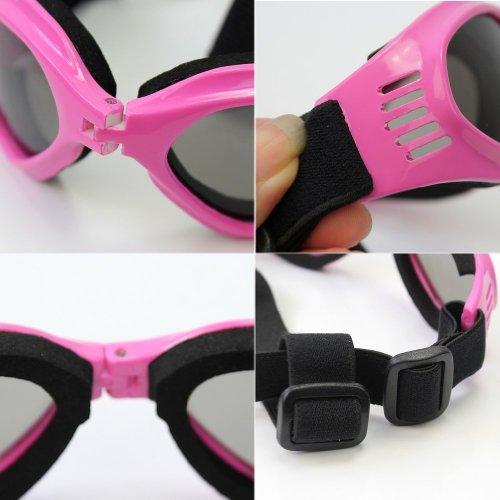 Namsan Dog Sunglasses – Dog Goggles UV Protection Sunglasses for Dog – Pink