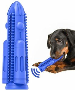Dog Toothbrush Toy Squeaky Teeth Cleaning Chew Toy Puppy Brushing Stick Dental Oral Care for Small Medium Dogs(