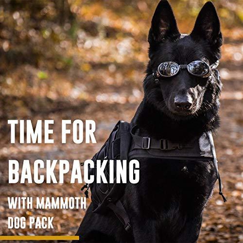 OneTigris Dog Pack Hound Travel Camping Hiking Backpack Saddle Bag Rucksack for Medium & Large Dog (Coyote Brown Version 2.0, (Neck: 22″-31.5″, Chest: 29″-35.8″))
