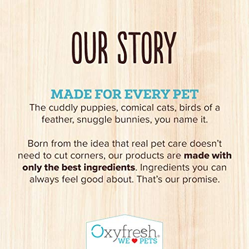 Oxyfresh Premium Pet Dental Care Solution Pet Water Additive: Best way to eliminate bad dog breath and cat breath – Fights tartar and plaque – So easy, just add to water! Vet recommended! 16 oz.