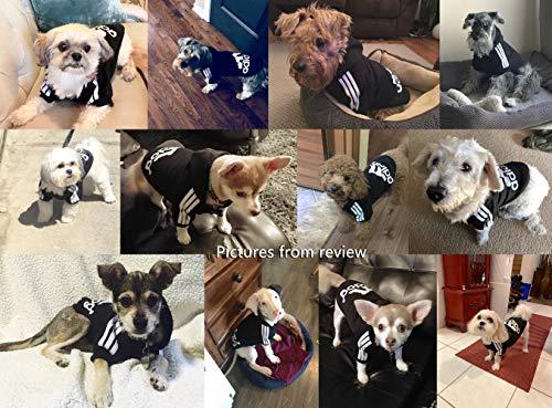 Idepet Soft Cotton Adidog Cloth for Dog, S, Black