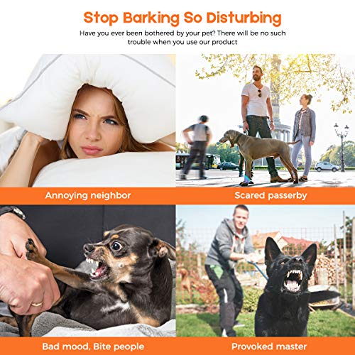 SHIGOO Anti Barking Device, Ultrasonic Dog Bark Deterrent – 3 Adjustable Ultrasonic Volume Levels for Small Medium Large Dogs, Sonic Dog Bark Control, No Barking — Use Outdoor & Indoor