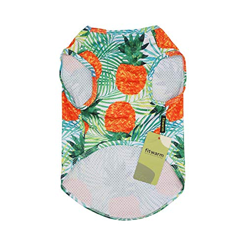Fitwarm Hawaiian Dog Shirts Tropical Pineapple Doggie T-Shirts Puppy Tee Top Aloha Vest Pet Clothes Green Small
