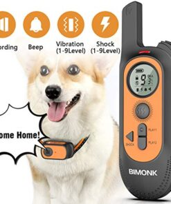 【2020 New】 Dog Training Collar w/4 Modes, Recording Beep Shock Vibration, Rechargeable Dog Shock Collar with No Shock Mode, 330 Yard Range, Waterproof, Perfect Remote Trainer for All Breeds