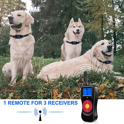 Zeonetak Dog Training Spray Bark Collar with Remote, 4 in 1 Citronella Control Stop Barking Collar for Dogs Small Medium Large, 2 Straps Adjustable Rechargeable Waterproof No Shock Harmless & Humane