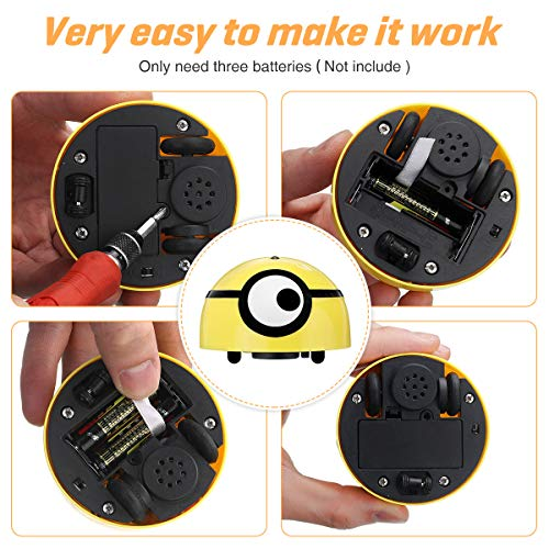 CAMTOA Interactive Cat Toy Intelligent Escaping, Runaway Interactive Cat Toy, Moving Wicked Ball for Small Dogs, Automatic Funny Pet Toy for Kitten Puppy, Robotic Motion Sensor Kitty Toy