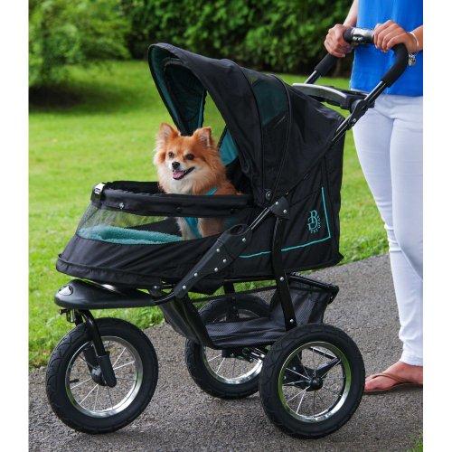 Pet Gear PG8450NVS Zipperless Entry, Easy One-Hand Fold, Air Tires NV Pet Stroller, Large, Sky Line