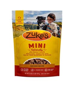 Zuke's Mini Naturals Training Dog Treats Chicken Recipe – 16 Oz. Bag