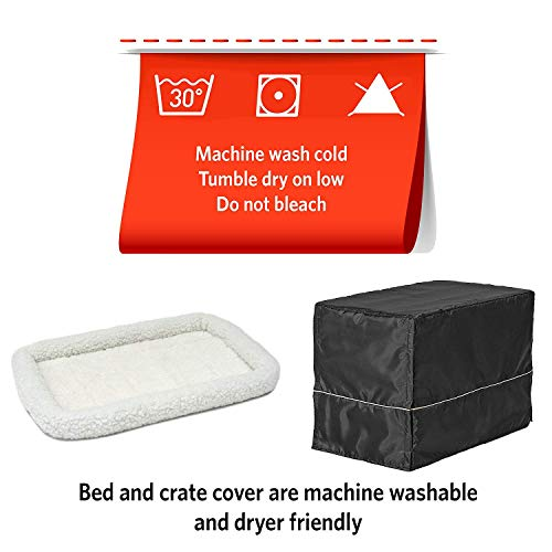 iCrate Dog Crate Starter Kit | 30-Inch Dog Crate Kit Ideal for Medium Dog Breeds (weighing 26 – 40 Pounds) || Includes Dog Crate, Pet Bed, 2 Dog Bowls & Dog Crate Cover