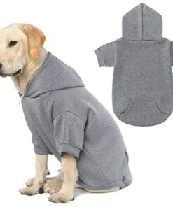 KOOLTAIL Basic Dog Hoodie – Soft and Warm Dog Hoodie Sweater with Leash Hole and Pocket, Dog Winter Coat, Cold Weather Clothes for XS-XXL Dogs
