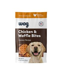 Amazon Brand – Wag Treats Chicken and Waffle Bites 6oz