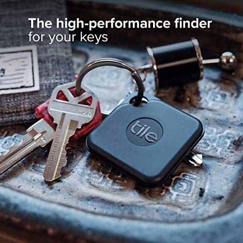 Tile Pro (2020) 1-pack – High Performance Bluetooth Tracker, Keys Finder and Item Locator for Keys, Bags, and More; 400 ft Range, Water Resistance and 1 Year Replaceable Battery