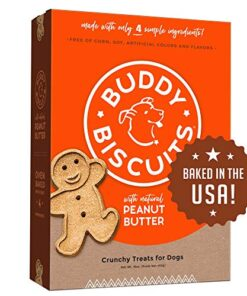 Buddy Biscuits Oven Baked Treats with Peanut Butter, Whole Grain – 16 oz. – Single Box