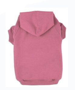 BINGPET Blank Basic Cotton/Polyester Pet Dog Sweatshirt Hoodie BA1002, Pink Large