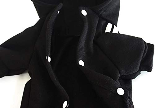 Cotton Pet Clothes for Dog Puppy Coat Hoodies Winter Cold Weather Outfit Sweatshirt Soft Warm Sweater (XS)