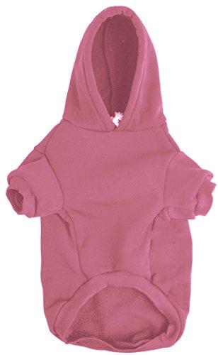 BINGPET Blank Basic Cotton/Polyester Pet Dog Sweatshirt Hoodie BA1002, Pink Large
