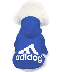 Moolecole Pet Sports Apparel Cat & Dog Cold Weather Coats Dog Hoodies Pet Sweaters (M, Sapphire Blue)