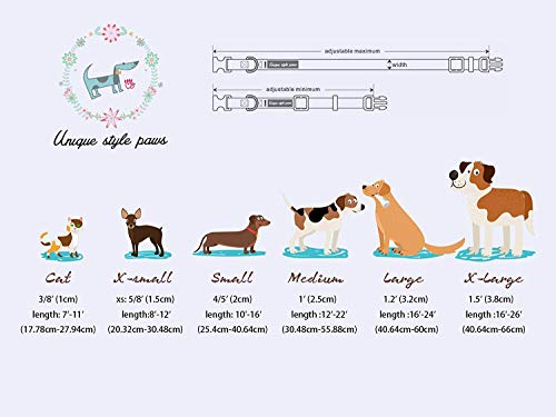 Unique Style Paws Christmas Dog and Cat Collar with Bow Pet Gift Adjustable Soft&Comfy Bowtie Collars for Small Medium Large Dogs