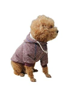 DALAPAW Pet Clothes for Dog Cat Puppy Hoodies Coat Winter Sweatshirt Warm Sweater Dog Outfits Athletic Look Dog Hoodie Sweatshirts Pullover Cat Jackets Wine Red (XXL)