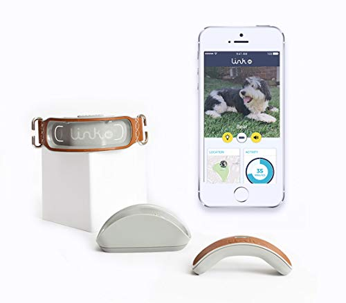 Link AKC Plus Smart Dog Tracker (Classic) – GPS Location Tracker, Activity Monitor, Waterproof, and More (LPLUSC), Leather, 1 OZ