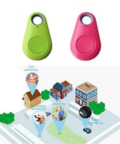 2 pcs Green + Pink GPS Tracker Collar Bluetooth Dog cat Key Wallet Bag Child Anti-Lost Child Tracker pet Smart Mini Waterproof Finder Wearable Device 2 pcs Green + Pink