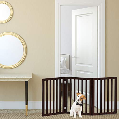 Freestanding Pet Gate 3 Panel Cream