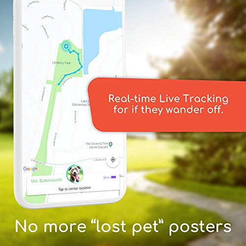 Jiobit Pet/Child Tracker – Live Location Monitoring for Dogs and Cats of Any Size | Small, Lightweight, Durable, Water Resistant, Shockproof, Smart Notifications | Utilizes Cellular, BT, WiFi and GPS