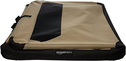AmazonBasics Portable Folding Soft Dog Travel Crate Kennel, Medium (21 x 21 x 30 Inches), Tan