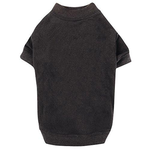 Zack & Zoey Basic Tee Shirt for Dogs, 14″ Small/Medium, Black