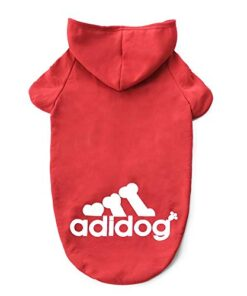 InnoPet Dog Clothes, Large Dog Adidog Hoodie Costume Outfits Sweater Dog Winter Coat Warm Sweatshirt Winter Jacket Dog Apparel for Cold Weather