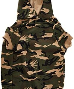 Casual Canine Camo Hoodie for Dogs, 20″ XL, Green