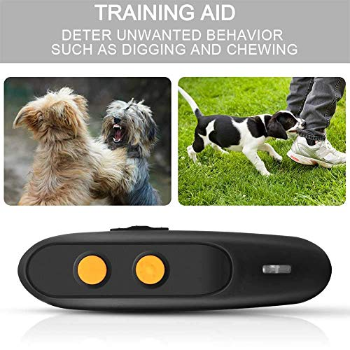 Ultrasonic Dog Bark Deterrent – Rechargeable Bark Control Device – Dog Barking Deterrent Devices – Dog Behavior Training Tool Control Devices of 16.4 Ft Effective Control Range with LED Indicator