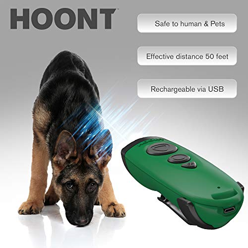 Hoont Ultrasonic Dog Repellent/Trainer with LED Flashlight/Powerful Sonic Ultrasonic Dog Deterrent and Bark Stopper Dog Trainer Device/Protect Yourself from Aggressive Dogs Train Upgraded Version